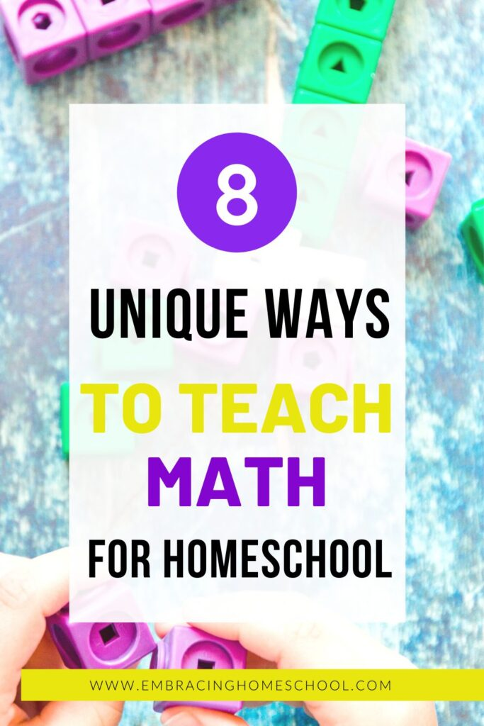 8 fun and unique ways to teach math at home