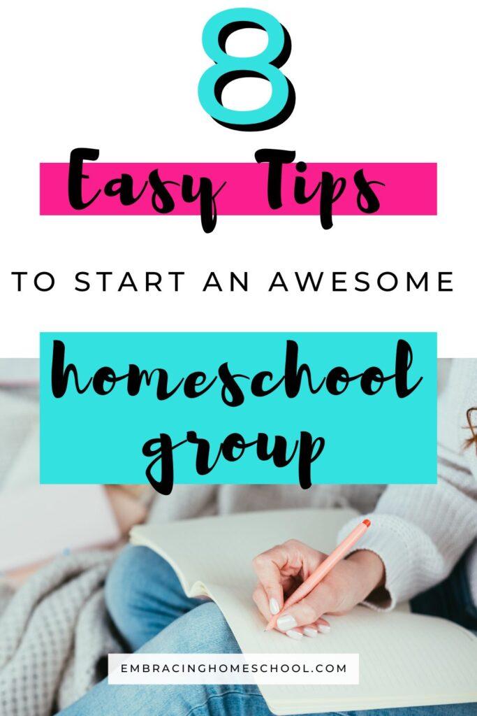 how to start a homeschool group