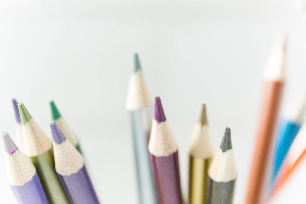 Colored Pencils close up image
